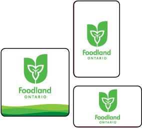 Foodland logo cards